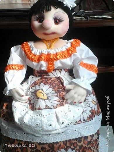 Привет Всем кто заглянул в гости, такую куколу сделал сестра за один день.  фото 1