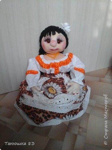 Привет Всем кто заглянул в гости, такую куколу сделал сестра за один день.  фото 7