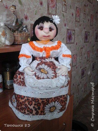 Привет Всем кто заглянул в гости, такую куколу сделал сестра за один день.  фото 6