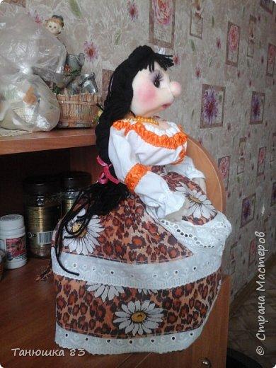 Привет Всем кто заглянул в гости, такую куколу сделал сестра за один день.  фото 3