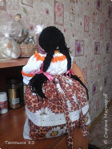 Привет Всем кто заглянул в гости, такую куколу сделал сестра за один день.  фото 4