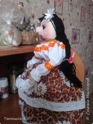 Привет Всем кто заглянул в гости, такую куколу сделал сестра за один день.  фото 5