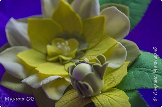 Цветочные украшения из фоамирана фото 2