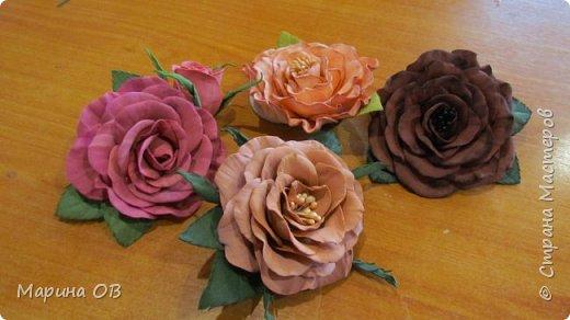 Цветочные украшения из фоамирана фото 6