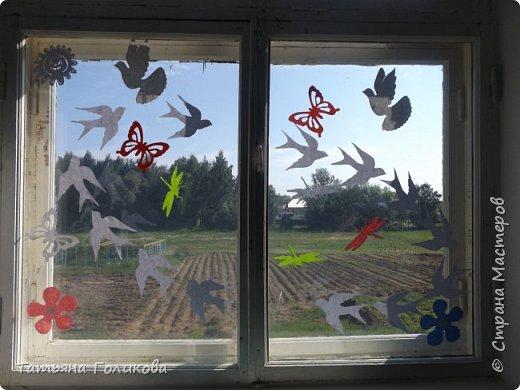 Украшаем окна в школе фото 1