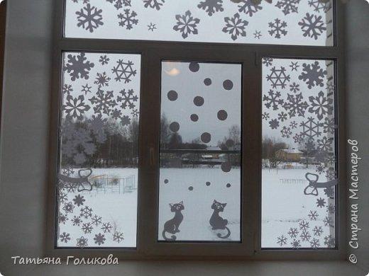 Украшаем окна в школе фото 2