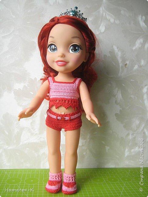 Кукла - Arielle 35 cm.  Подарила внучке на день рождения, с вязаными обновками. В глазах у внучки был ВОСТОРГ!!!   Её любимая  в мультфильме принцесса. Принцесса София - http://stranamasterov.ru/node/1035055  у другой внучки. фото 3