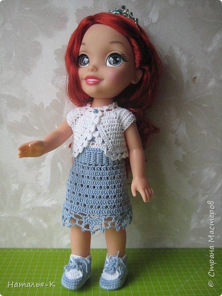 Кукла - Arielle 35 cm.  Подарила внучке на день рождения, с вязаными обновками. В глазах у внучки был ВОСТОРГ!!!   Её любимая  в мультфильме принцесса. Принцесса София - http://stranamasterov.ru/node/1035055  у другой внучки. фото 6