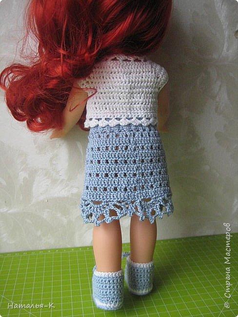 Кукла - Arielle 35 cm.  Подарила внучке на день рождения, с вязаными обновками. В глазах у внучки был ВОСТОРГ!!!   Её любимая  в мультфильме принцесса. Принцесса София - http://stranamasterov.ru/node/1035055  у другой внучки. фото 8