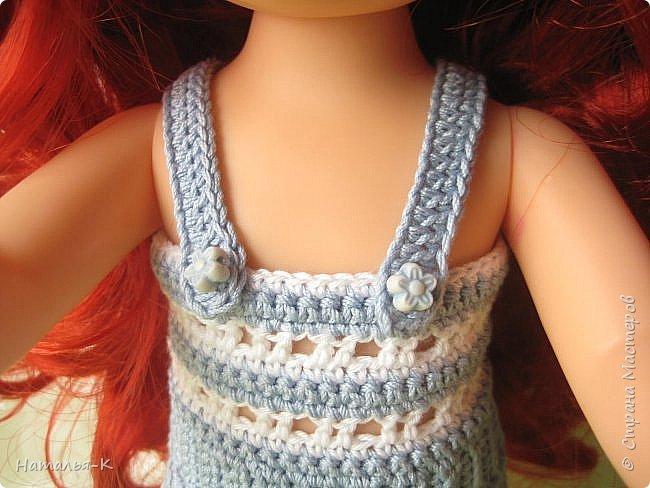 Кукла - Arielle 35 cm.  Подарила внучке на день рождения, с вязаными обновками. В глазах у внучки был ВОСТОРГ!!!   Её любимая  в мультфильме принцесса. Принцесса София - http://stranamasterov.ru/node/1035055  у другой внучки. фото 10