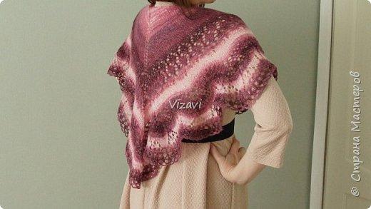 Моя первая шаль!  Пряжа Ализе Ангора Голд Симли - 100гр. и спицы № 5 Отличный подарок для свекрови, думаю, что она останется довольна! фото 3