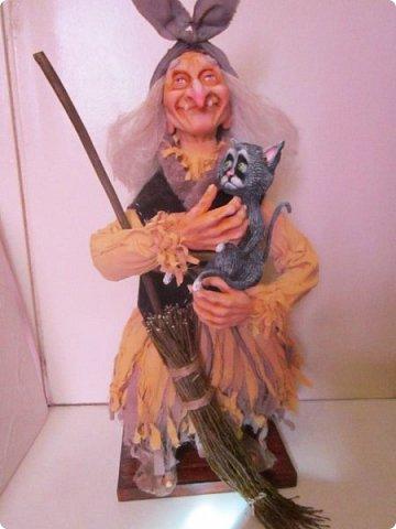 Баба Яга сделана на заказ- высота 60 см! Цвет одежды пожелание заказчика! фото 20