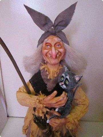 Баба Яга сделана на заказ- высота 60 см! Цвет одежды пожелание заказчика! фото 19