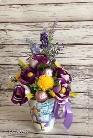 Добрый день девочки!!! Во первых хочу от всей души поздравить всех мастериц с праздником 8 марта!!Девочки вы самые талантливые, яркие, красивые, успешные и главное у вас золотые руки!! Хочу пожелать вам счастья личного, добиться успехов во всем , чем бы вы не занимались, НАСТРОЕНИЯ ОТЛИЧНОГО и хороших людей рядом!!!  Да и огромное спасибо девочки за поздравление с днем рождения, очень приятно когда тебя не забывают!!!!! У меня сегодня несколько работ. Кружечки с конфетами Золотые купола( спасибо за идею Леночке Франскевич)) фото 2