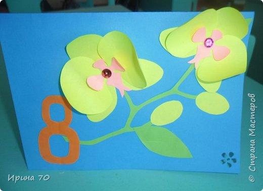 Ветка орхидеи 8Марта. фото 1