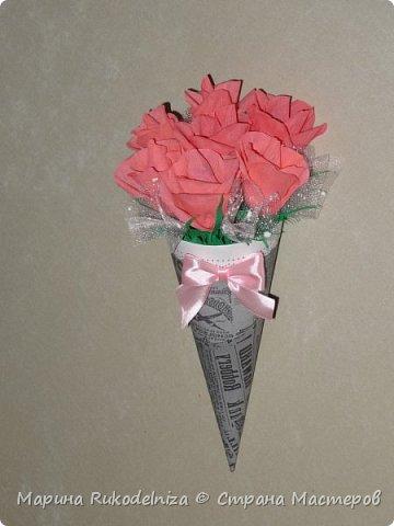 Мои первые бумажные цветы фото 1