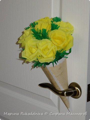 Мои первые бумажные цветы фото 2
