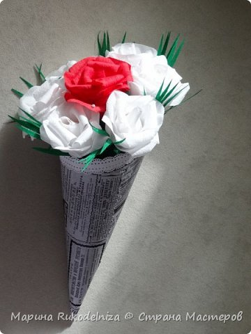 Мои первые бумажные цветы фото 4