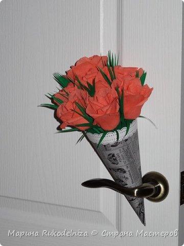 Мои первые бумажные цветы фото 5