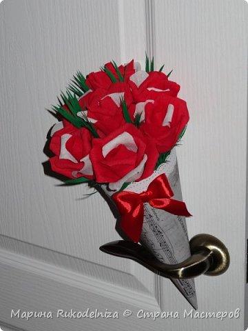 Мои первые бумажные цветы фото 6