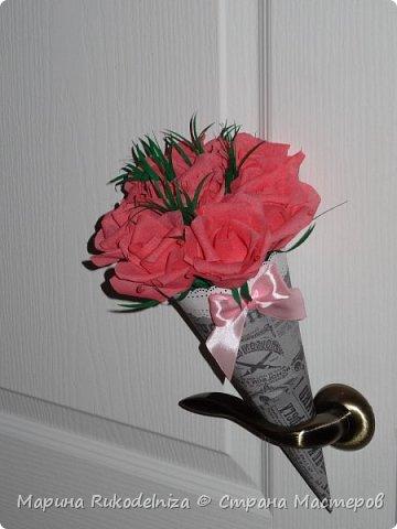 Мои первые бумажные цветы фото 7