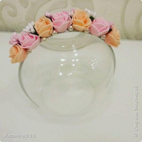Ободок для маленькой принцессы, выполнен из фоамирана)  фото 2