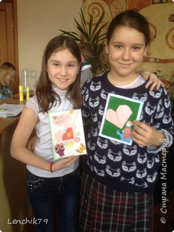 Еще раз Здравствуйте! Валентинки в стиле оригами. Очень понравилось складывать сердечки. Спасибо фото с интернета. Вот такие открытки Валентинки я подготовила в качестве примера. фото 10