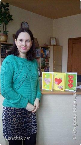 Еще раз Здравствуйте! Валентинки в стиле оригами. Очень понравилось складывать сердечки. Спасибо фото с интернета. Вот такие открытки Валентинки я подготовила в качестве примера. фото 13