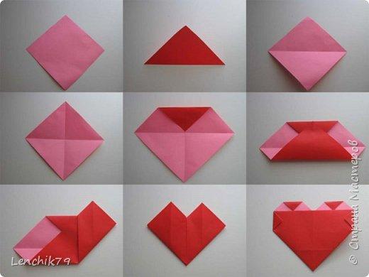 Еще раз Здравствуйте! Валентинки в стиле оригами. Очень понравилось складывать сердечки. Спасибо фото с интернета. Вот такие открытки Валентинки я подготовила в качестве примера. фото 14