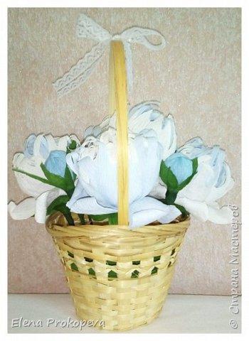 Конфетно-цветочный букет