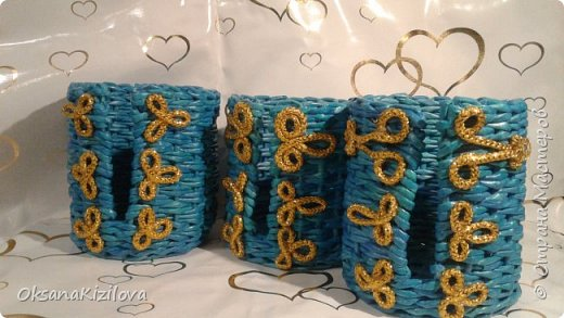 Добрый день. Давно в моих хотелках было плетение В честь праздников наплелись такие конфетницы. фото 14