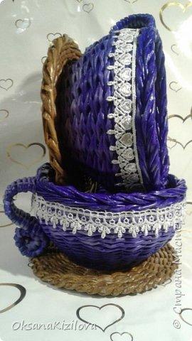 Добрый день. Давно в моих хотелках было плетение В честь праздников наплелись такие конфетницы. фото 7