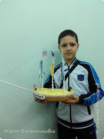 """Первый парусник , изготовленный в нашем объединении здесь -  http://stranamasterov.ru/node/985331  .А это парусник под названием """"Победа""""- работа Сергея. фото 5"""
