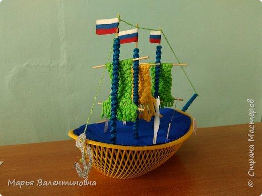 """Первый парусник , изготовленный в нашем объединении здесь -  http://stranamasterov.ru/node/985331  .А это парусник под названием """"Победа""""- работа Сергея. фото 4"""