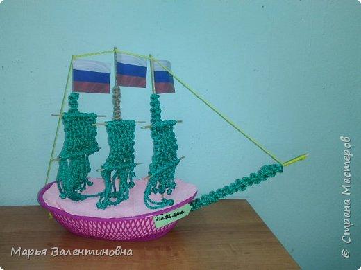 """Первый парусник , изготовленный в нашем объединении здесь -  http://stranamasterov.ru/node/985331  .А это парусник под названием """"Победа""""- работа Сергея. фото 11"""