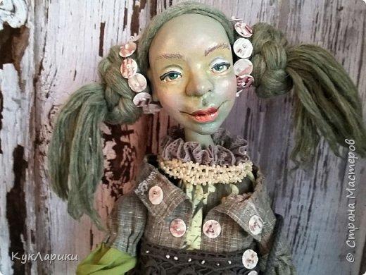 Всем Привет!!!У меня новая кукла.Кикимора Весенняя. Кукла большая почти 60 см.Сидит самостоятельно. фото 2