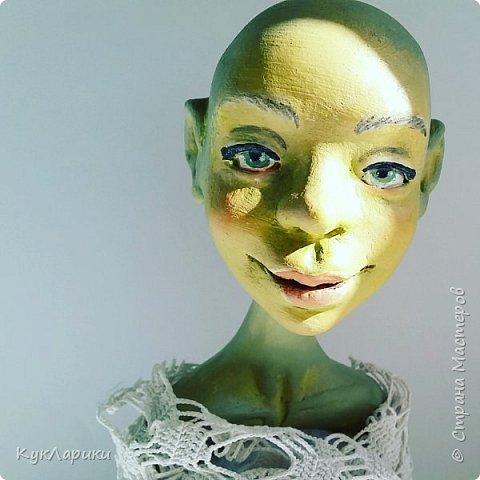 Всем Привет!!!У меня новая кукла.Кикимора Весенняя. Кукла большая почти 60 см.Сидит самостоятельно. фото 8