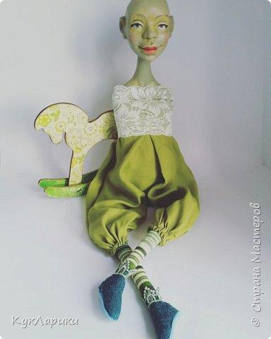 Всем Привет!!!У меня новая кукла.Кикимора Весенняя. Кукла большая почти 60 см.Сидит самостоятельно. фото 7