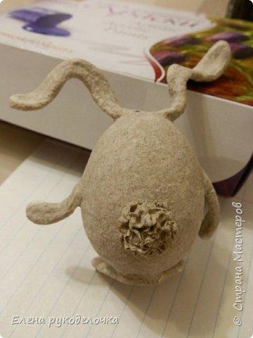Сегодня я хочу показать как делается пасхальный кролик, на основе яичной скорлупы. фото 9