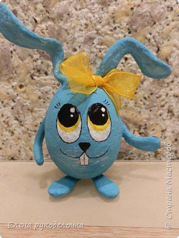 Сегодня я хочу показать как делается пасхальный кролик, на основе яичной скорлупы. фото 12