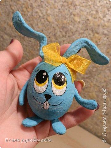 Сегодня я хочу показать как делается пасхальный кролик, на основе яичной скорлупы. фото 14