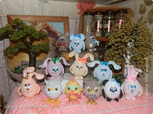 Сегодня я хочу показать как делается пасхальный кролик, на основе яичной скорлупы. фото 18