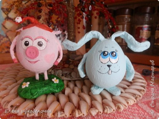 Сегодня я хочу показать как делается пасхальный кролик, на основе яичной скорлупы. фото 20