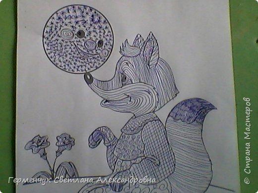 """На уроке Изо"""" Иллюстрации к сказкам"""" уч-ся 4 класса   выполняли  штрихом.Такое рисование хорошо развивает мелкую моторику пальцев,улучшает почерк .Ребятам понравилась работа ,они придумывали свои способы штриховки,Рисунки  распечатали из Интернета . Все , МОЛОДЦЫ!!!!!! фото 5"""
