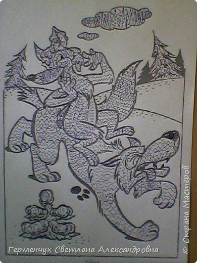 """На уроке Изо"""" Иллюстрации к сказкам"""" уч-ся 4 класса   выполняли  штрихом.Такое рисование хорошо развивает мелкую моторику пальцев,улучшает почерк .Ребятам понравилась работа ,они придумывали свои способы штриховки,Рисунки  распечатали из Интернета . Все , МОЛОДЦЫ!!!!!! фото 6"""