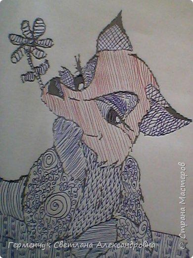 """На уроке Изо"""" Иллюстрации к сказкам"""" уч-ся 4 класса   выполняли  штрихом.Такое рисование хорошо развивает мелкую моторику пальцев,улучшает почерк .Ребятам понравилась работа ,они придумывали свои способы штриховки,Рисунки  распечатали из Интернета . Все , МОЛОДЦЫ!!!!!! фото 22"""