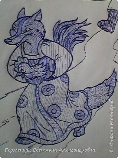 """На уроке Изо"""" Иллюстрации к сказкам"""" уч-ся 4 класса   выполняли  штрихом.Такое рисование хорошо развивает мелкую моторику пальцев,улучшает почерк .Ребятам понравилась работа ,они придумывали свои способы штриховки,Рисунки  распечатали из Интернета . Все , МОЛОДЦЫ!!!!!! фото 24"""