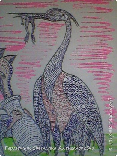"""На уроке Изо"""" Иллюстрации к сказкам"""" уч-ся 4 класса   выполняли  штрихом.Такое рисование хорошо развивает мелкую моторику пальцев,улучшает почерк .Ребятам понравилась работа ,они придумывали свои способы штриховки,Рисунки  распечатали из Интернета . Все , МОЛОДЦЫ!!!!!! фото 31"""