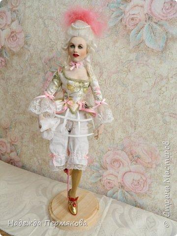 Кукла размером 60 см, запекаемый пластик -ливингдолл, волосы мех ангорской козы (техника вживления). Любуйтесь если нравится. фото 3