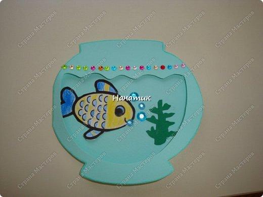 Такую открытку Алина сделала на день рождения, так как хозяйка данной открытки по гороскопу рыба).  Открытка сделана из бумаги для пастели. фото 4